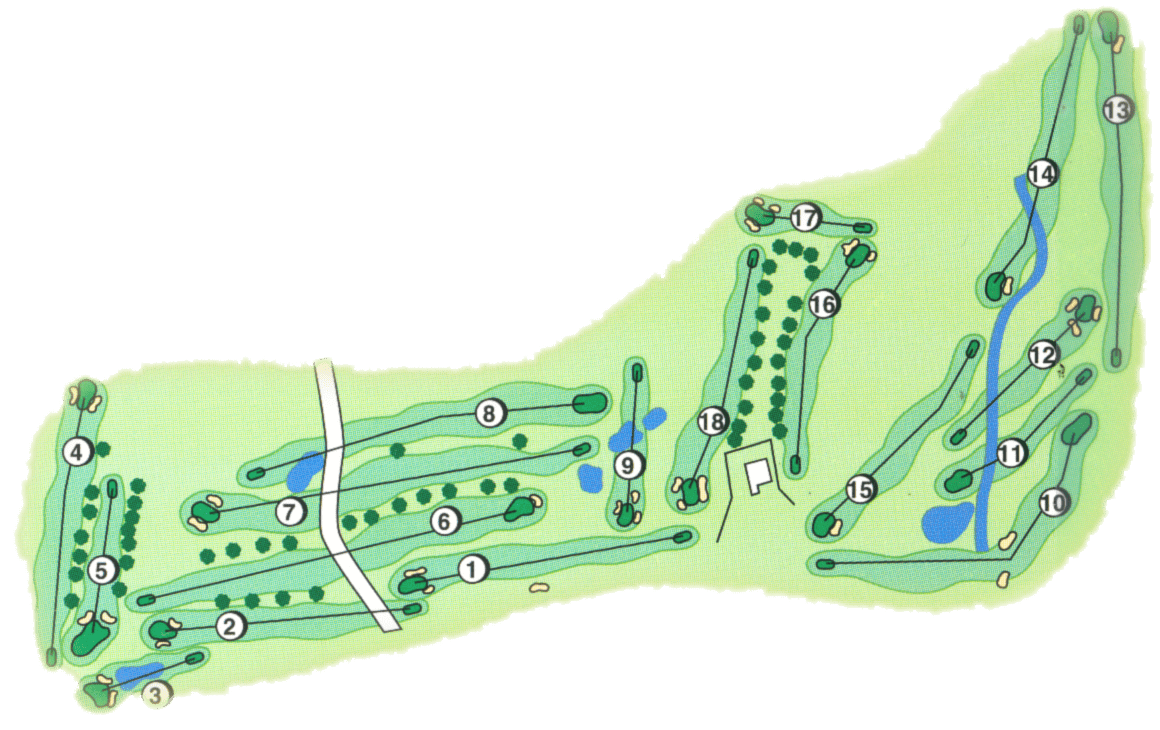 The Grassy Creek Golf & Country Club course layout